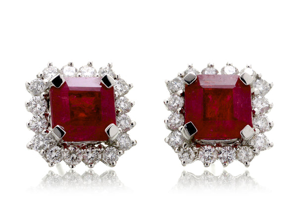 The Warren Ruby Stud Earrings (3.73ct. tw.)