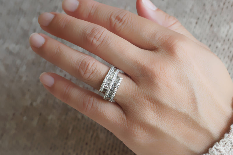 The Bypass Baguette Diamond Ring