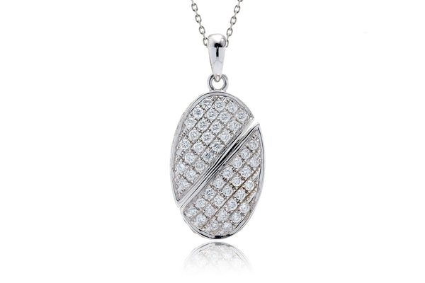 The Ronda Heart/Oval Pavé Pendant