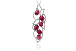 The Cabochon Ruby Diamond Pendant
