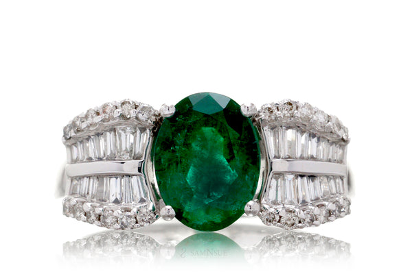 The Estelle Oval Emerald Ring (2.15ct. tw.)