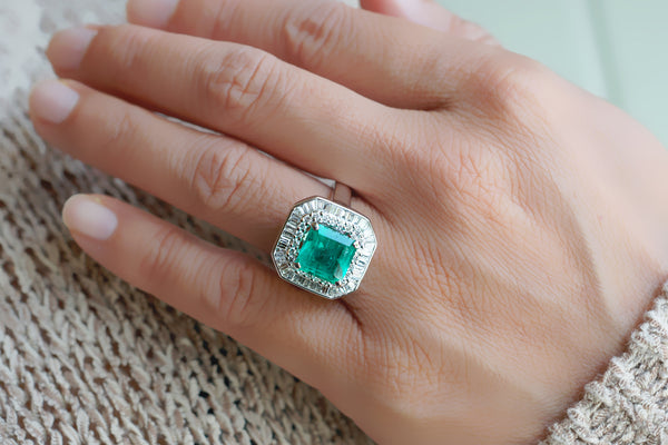 The Emersyn Step Cut Emerald Ring (3.70 ct. tw.)