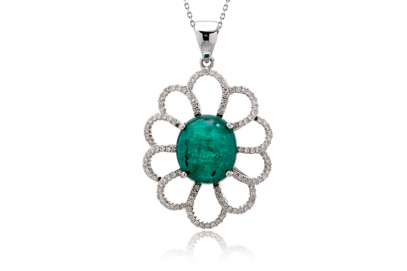 The Angelina Emerald Diamond Pendant (6.46 ct. tw.)