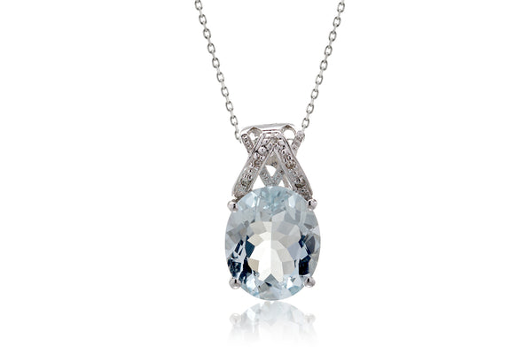 The Oval Aquamarine Slide Pendant (4.31 ct. tw.)