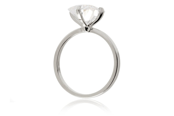 The Adeline Pear Moissanite