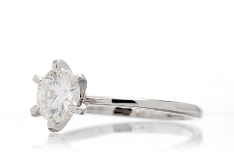 The Adeline Round Moissanite