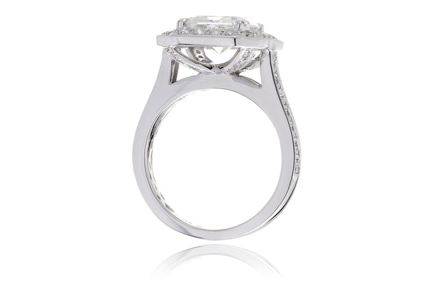 The Aretha Halo Asscher Moissanite