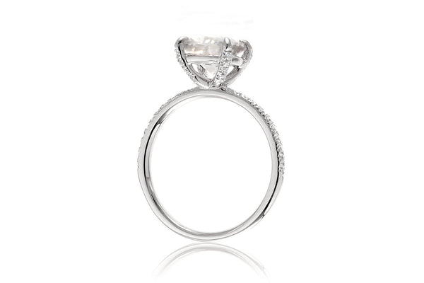 The Ava Cushion Moissanite