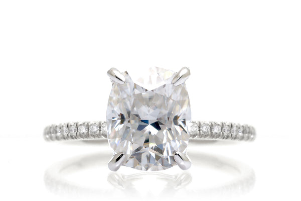 The Ava Long Cushion Moissanite