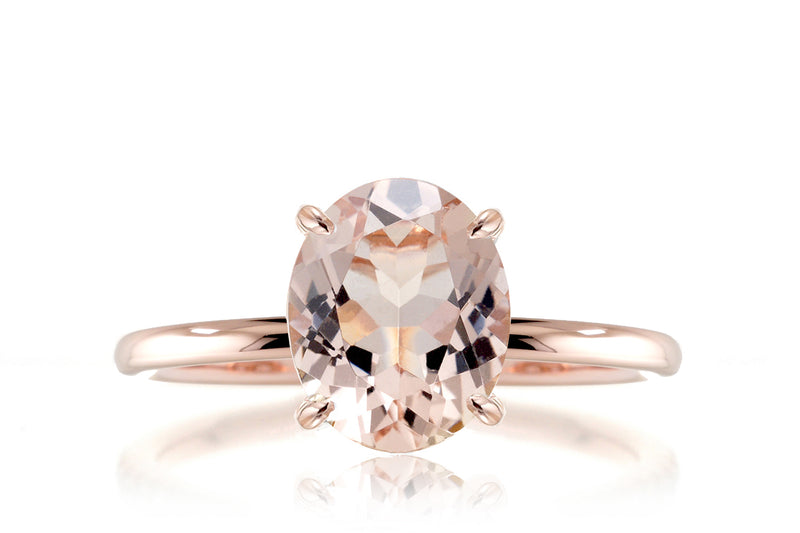 The Ava Oval Morganite