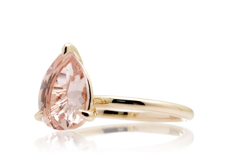 The Ava Pear Morganite
