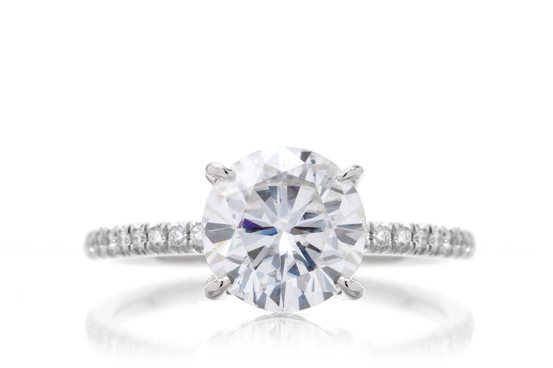 The Ava Round Moissanite