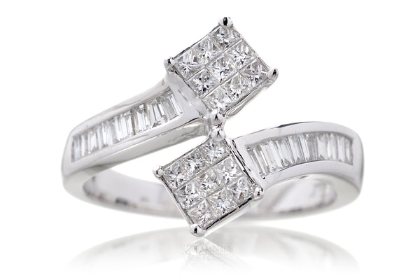 The Two-Stone Princess Diamond Ring (0.69 ct. tw.)