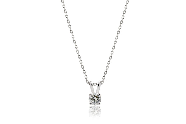 The Bunny Ear Solitaire Diamond Pendant (4mm)