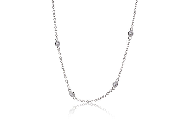 By The Yard Diamond Necklace (32 Inches)
