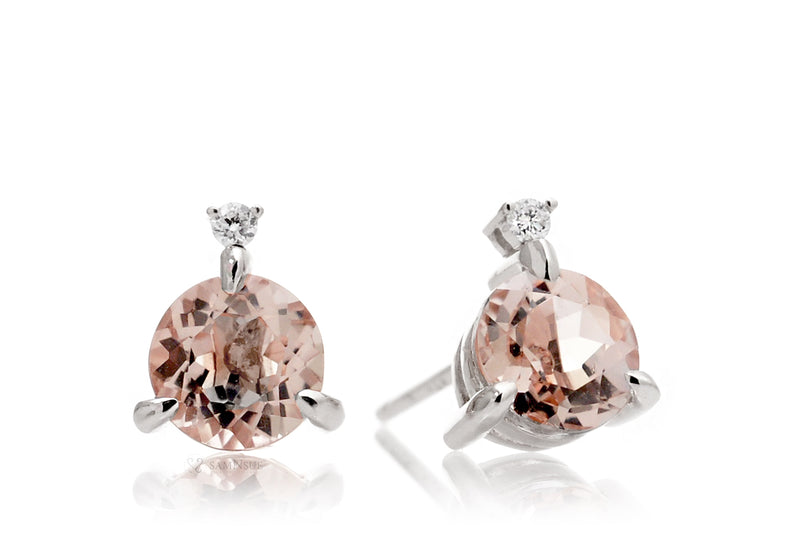 The Mandy Morganite Studs (6mm)