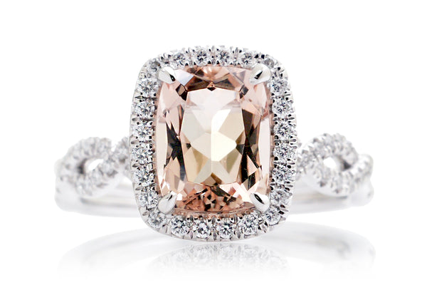 The Cecelia Cushion Morganite