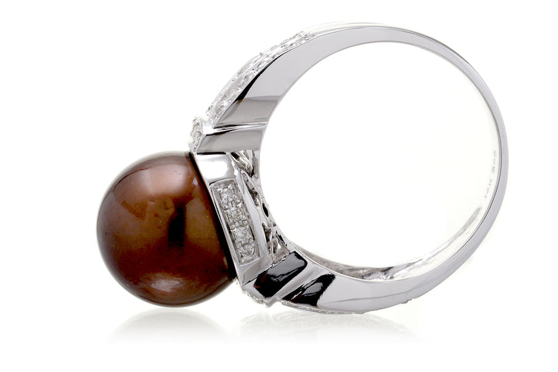 The Makana Chocolate Pearl Ring (11.6 mm)