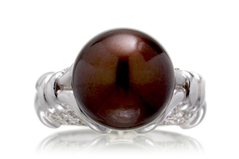 The Miri Chocolate Pearl Ring (11.7mm)