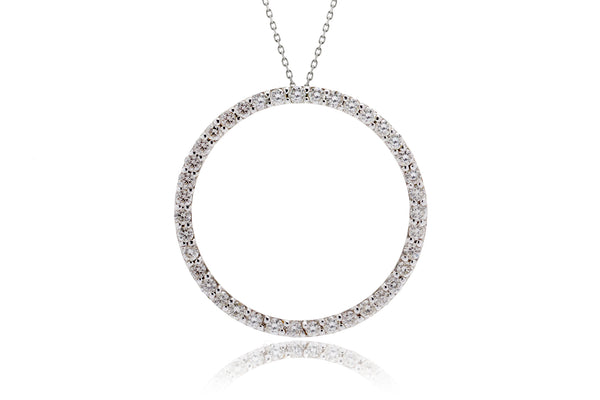The Circle Of Love Shared Prongs Diamond Pendant (1.07ct. tw.)