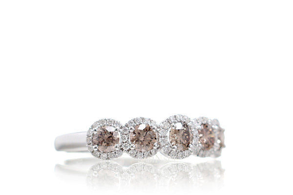 The Olivia Champagne Diamond Band