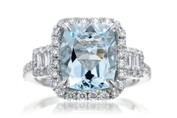 The Cali Cushion Aquamarine