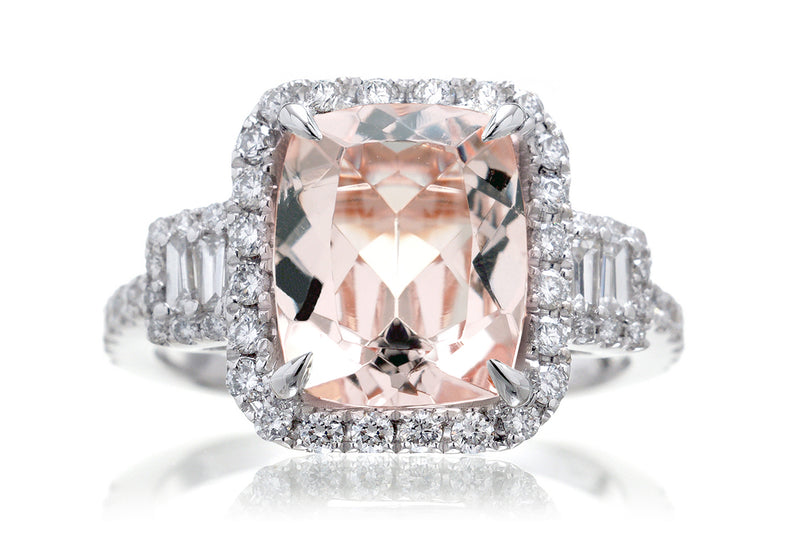 The Cali Cushion Morganite