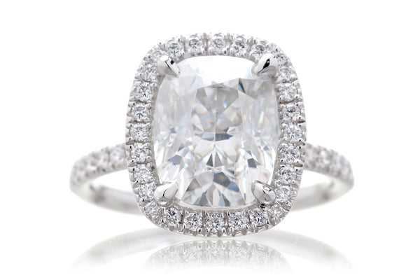 The Drenched Cushion Moissanite