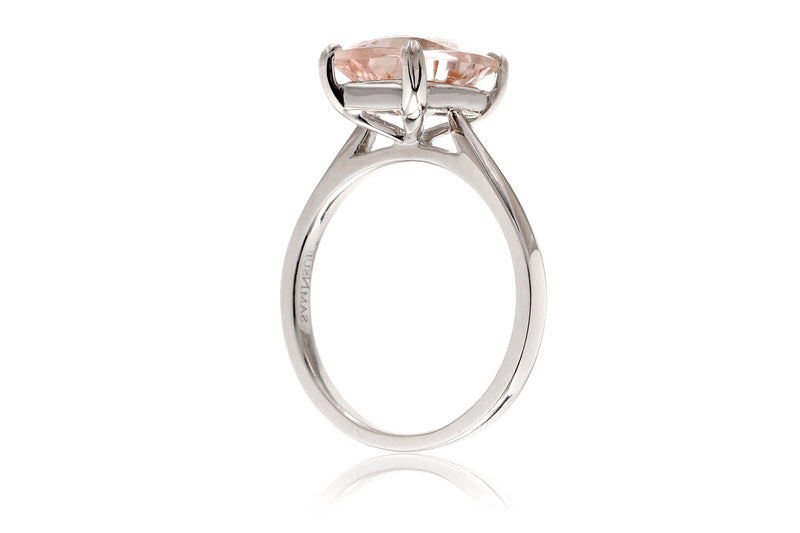 The Emily Solitaire Cushion Morganite