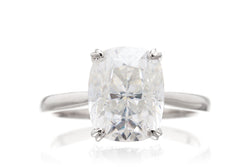 The Emily Solitaire Cushion Moissanite