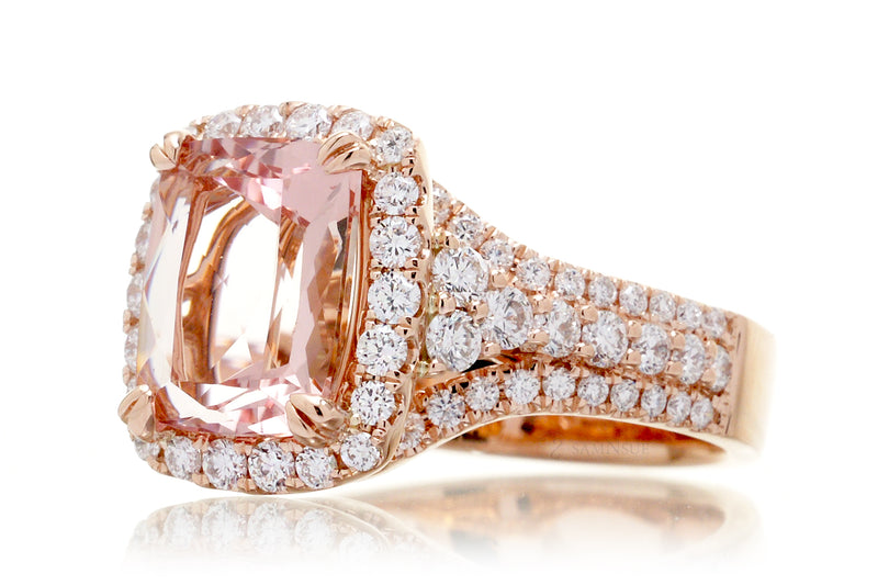 The Isabella Cushion Morganite