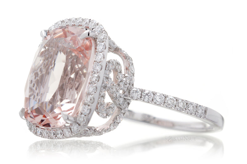 The Holly Cushion Morganite (14 N R infinity)