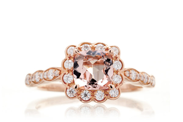 The Scallop Cushion Morganite