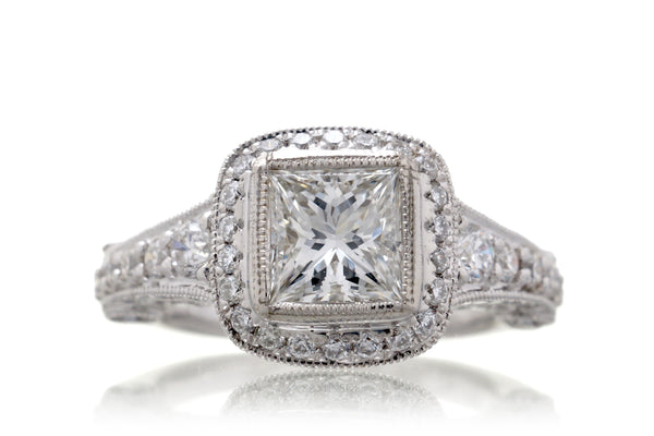 The Silva Princess Cut Diamond (E.G.L. F/VS1)