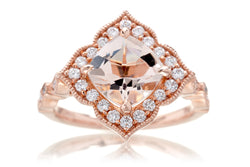 The Delilah Cushion Morganite
