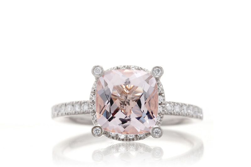 The Desirée Cushion Morganite