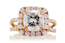 The Bonnie Cushion Moissanite (8.5x8.5 FB)