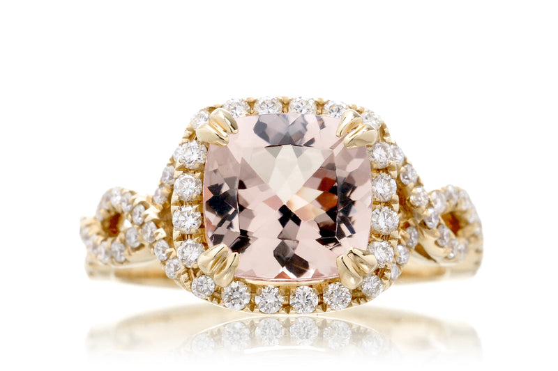 The Shelly Cushion Morganite