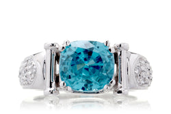 The Ester Cushion Blue Zircon (4.75 ct. tw.)
