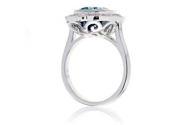 The Scarlette Cushion Blue Zircon (6.17 ct. tw.)