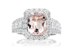 The Valentina Cushion Morganite