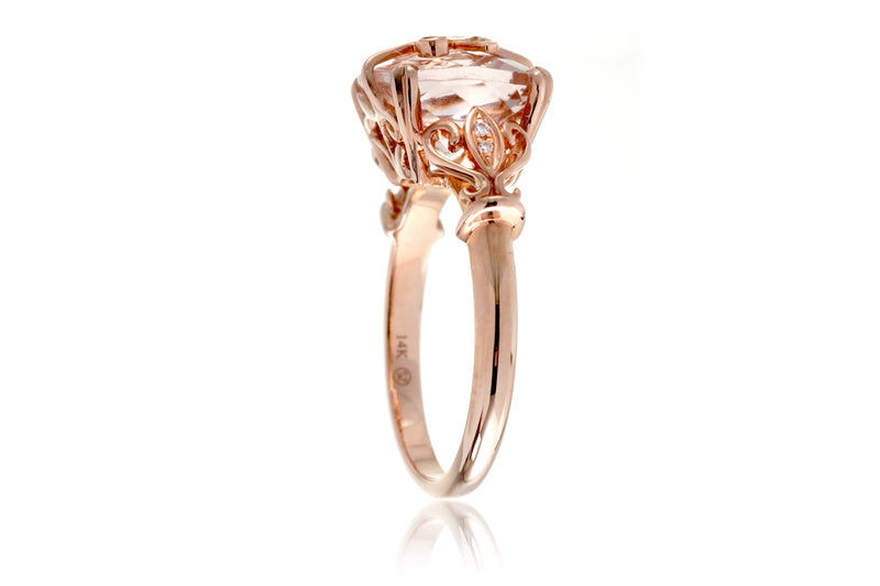 The Leaf And Vine Cushion Morganite