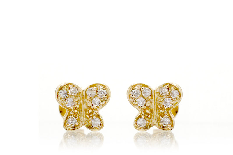 The Little Diamond Butterfly Studs (0.10 ct. tw.)