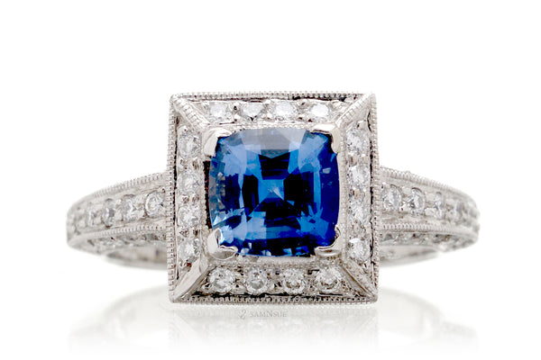 The Doris Cushion Sapphire Ring (2.01 ct. tw.)