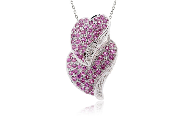 The Myrtle Pink Sapphire Heart Pendant
