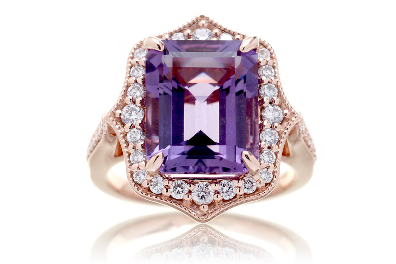 The Genevieve Emerald Cut Amethyst