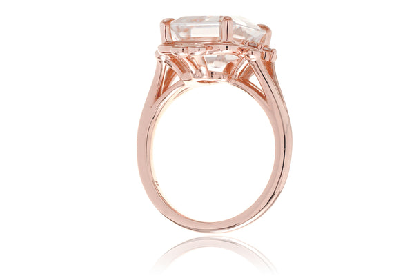 The Elizabeth Emerald Cut Moissanite
