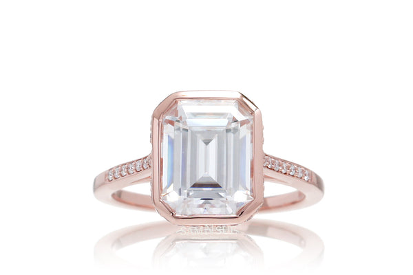 The Jessica Emerald Cut Moissanite