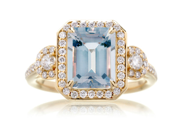 The Nancy Emerald Cut Aquamarine