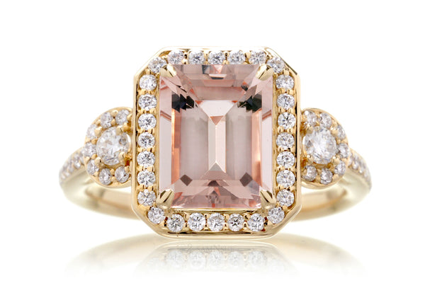 The Nancy Emerald Cut Morganite